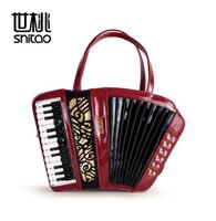 Wholesale Accordion Bag - Factory direct brand handbag fashion trend fashion ladies handbag carved accordion musical color delicate Handmade woman single shoulder bag
