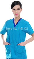 Wholesale Medical Surgical Caps - Wholesale-2016 Rushed Surgical Cap Vestidos Femininos Jalecos Summer Women's Hospital Surgical Or Medical Scrub Clothes Sets Short