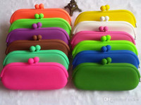 Wholesale Cellphone Glasses - Rubber Silicone Pouch Purse Wallet Glasses Cellphone key Coin Bag Case Brand New Good Quality Free Shipping