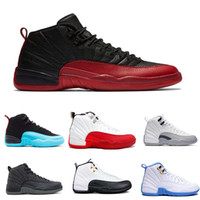 Wholesale Gamma Band - 2017 man air retro 12 high quality Basketball Shoes for mens, taxi playoffs Gamma Blue black sport Retro 12s Sneakers shoe