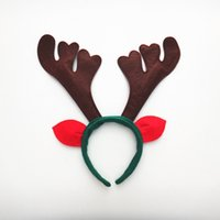 outdoor recycle - Christmas antlers headband head buckle tri color festive birthday party supplies props can be recycled headband manufacturers