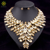 Wholesale china jewellery 18k for sale - Group buy 6Colors African Bead Jewelry Sets Wedding Necklace Womens Jewellery Set Gold Plated Crystal Necklace And Earrings