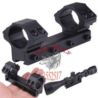 Wholesale Double Ring Rifle - Aluminum Alloy Metal Low 25.4mm  1'' ring Double rifle Scope Ring Mount for 11mm dovetail rail 100mm length