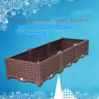 Wholesale Balcony Plant Box - Free combination flower pots Balcony growers and flower boxes Plastic rectangular planting box Fabric Raised Bed