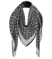 seidenglanz großhandel-Grey Check Damen Wolle Baumwolle Kaschmir Seidenschals Schal Wrap Schal Pashmina Shine Schal