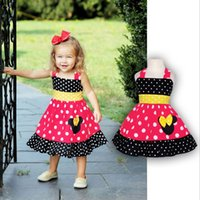 Wholesale Dress Minnie Kids - Kids Clothes 2017 Summer party Minnie Clothes Cartoon Baby Newborn Dresses for Girls Children Dress Girls Clothing Wholesales