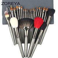 Wholesale Make Up Brushes Zoreya - Zoreya Brand Sable Hair 26pcs Highl Quality Makeup Brushes Professional Make Up Brush Set with Cosmetic Bag