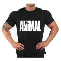 Wholesale Animal T Shirts Bodybuilding - Animal Gym Men T Shirt Stringer Mens Singlets Bodybuilding Vest Fitness Short Sleeve Shirt Sports Man Clothes