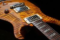 çok elektro gitarlar toptan satış-Özel Reed Smith Amber Kahverengi Alev Maple DGT David Grissom İmza Elektro Gitar Çok Sepcial Klavye Kakma