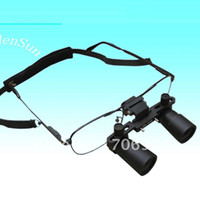 Wholesale Microscope Surgical - Operating Magnifier 3X Glasses type Magnifier Loupe Dental 3X Magnifying Medicinal Surgical Binocular Loupes 420MM Free shipping tools