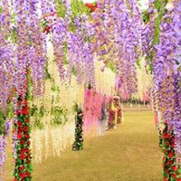 Wholesale Wedding Decoration Silk Flower Garland Artificial Flower Wisteria Vine Rattan For Party Home Garden Hotel decoration