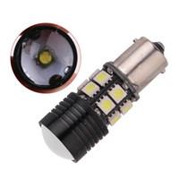 1157 frenli süpürge ampulü açtı toptan satış-1156 BA15S p21w 1157 LED 12 SMD +1 CREE Beyaz Otomatik Lamba Fren Ampul Araba ampul Kuyruk Işık Dönüş Sinyali Işıklar Ampüller Araba Işık Yedekleme Lambası