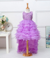 Wholesale Mermaid Style Dresses For Kids - 3-8T Girl Evening Dress Sequin Princess Party Dovetail Kids Dresses for Girls Wedding Dress Robe Fille Infantil Vestido