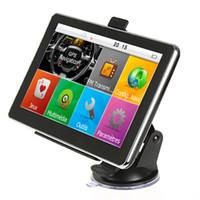 ingrosso igo gps nuova mappa-HD 7 pollici Navigazione GPS per auto Navigatore per auto Bluetooth AVIN FM 800 * 480 Touch Screen 800MHZ WinCE6.0 Nuove mappe IGO da 8 GB