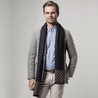 Fashion Design Men Business Classic Plaid Scarf Soft Warm Printed Winter Wrap 180cm Long Check Pattern Neckscarf Разноцветный кашемировый шаль