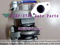 zwillings-turbolader großhandel-1 stück Twin Turbo CT12A 17201-46010 17208-46010 Turbolader Für TOYOTA Soarer Supra Chaser Cresta Mark 2; Lexus 220D 1JZ-GTE 2.5L
