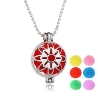 Wholesale Colorful Rhinestone Necklaces - Hot Antique silver censer colorful stainless steel jewelryaromatherapy necklaces essential oil diffuser Hot perfume locket necklaces pendant