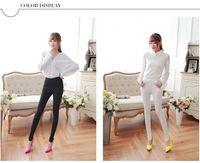 Wholesale High Waist Leggings Elastic - High Waist Slim Skinny Women Leggings Stretchy Pants Jeggings Pencil Pants