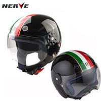 Wholesale Size S Half Helmet - 2016 New Germany NERVE Kevlar elastic fiber child half face helmets kids motorcycle helmet for boy and girl size S M