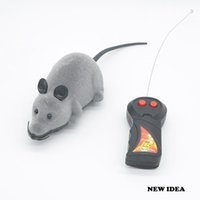 Wholesale Wireless Remote Control Toys - New Remote Control RC Rat Mouse Wireless For Cat Dog Pet Toy Novelty Gift B001