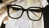 kahverengi göz jeli toptan satış-ÇOK Lüks Moda Kadınlar Marka Tasarımcısı Popüler Gözlük Oymak Optik Lens Kedi Göz Tam Çerçeve Siyah Kaplumbağa Kahverengi Gel ...