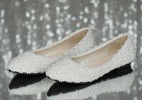 ingrosso scarpa di raso piatto bianco-Scarpe da sposa a forma di stock da sposa, scarpe da sposa