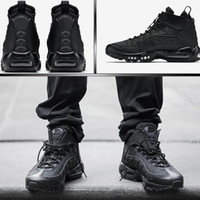 Wholesale Size Wedge Sneakers - Authentic 95 Cushion Mens Boots Hight Top Sneakers Waterproof Maxes 95 Men's Shoes Ankle Boots Size 40-46