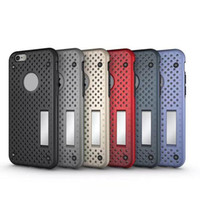 Wholesale Net Hole Iphone - Supcase Net Grid Case For iPhone 6 6S 4.7 Plus 5.5 Hole Kickstand Mesh Hard Plastic + Soft TPU Bumper Frame Caseology Heat Radiation Holder