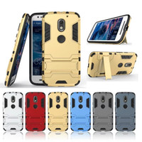 case forces - Iron Man Hybrid in1 Armor Defender Robot Kickstand Case for MOTO Motorola G5 G5 plus G3 G4 E3 M X Force X play