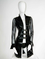 Cheap Sexy Costumes Long Sleeve Jacket Best Sexy Dresses Women Faux Leather Lingerie