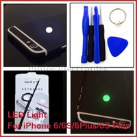Wholesale Iphone Night - Night Glow LED Light Back Logo Replacement For iPhone 6 6S Fashion Light For iPhone 6 Plus 6S Plus 7 Colors Light Kits