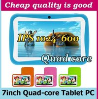 Wholesale Kid Tablets Cheap - Free Shipping 7 inch Cheap Children Kids Tablet PC Quad Core 8GB RK3126 Android 4.4 OR Android 5.1 MID Dual Cam Educational Games