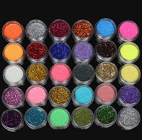 maquillaje profesional al por mayor-Pro Eye Shadow Makeup Cosmético Shimmer Powder Pigment Mineral Glitter Spangle Sombra de ojos 60 colores envío de la gota