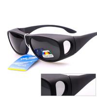 Wholesale Over Sunglasses - 2016 Fit Over the Eeyeglasses PC TAC Polarized OTG Sunglasses Oversized Shades Myopia Driving Sun Polarizing Lenses 40 Pcs DHL