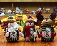 Wholesale Xmas Presents - Hot Sell Christmas Present Santa Claus Dolls Plush Christmas Dolls Christmas Decorations For Home Merry Xmas New Year Creative Gifts
