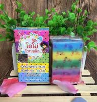 Wholesale Face Thailand - Thailand Original OMO White Plus Soap fruitamin soap Mix Color Plus Five Bleached White Skin 100% Gluta Rainbow Soap