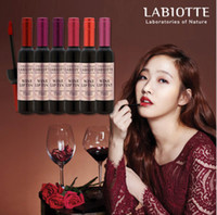 Wholesale Brand Liquid Bottle - Makeup Liquid Lipsticks LABIOTTE Bottle Of Red Wine Lip Tint Branded Velvet Waterproof Long Lasting Lip Gloss 6 Colors