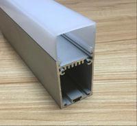cubierta de perfil de tira de led al por mayor-Envío gratuito 2M / PCS 10m / lote led perfil de aluminio suspendido para tiras de led cubierta transparente y cubierta difusa lechosa están disponibles uso suspendido