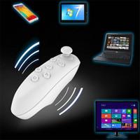 mini contrôleur de jeu bluetooth achat en gros de-Universel Bluetooth Télécommande Sans Fil Gamepad Souris Mini Sans Fil Joystick Pour iPhone Pour Samsung Android IOS VR BOX