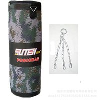 Wholesale Punching Bag Man - Wholesale-Retail Height 90 100 cm Adult Multi-layer Sandbag Boxing mma Fight Martial Arts Muay Thai Men Empty PU And Oxford Cloth Sand Bag