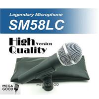 micrófono 58lc al por mayor-Venta Envío Gratis! Versión de alta calidad SM 58 58LC SM58LC con conexión de cable Vocal Karaoke Micrófono dinámico Microfono Micrófono de mano Micrófono