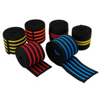 Wholesale Weight Lifting Elbow - 2m long elastic knee support Gym Sports Wraps for Men's Weight Lifting Bandage Straps Guard Pads ankle leg wrist wrap NEW