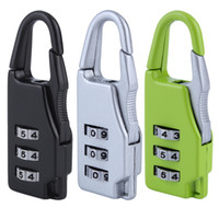 Wholesale Security Combination Travel Suitcase Luggage Bag Code Lock Zipper Padlock Popular New