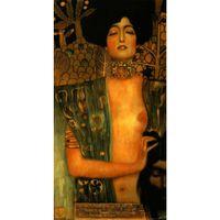 mujer retrato pinturas al óleo al por mayor-Hechos a mano Gustav Klimt Retrato Judith y Holopherne Mujer arte pinturas al óleo sobre lienzo para la decoración de la vida