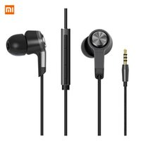 Wholesale Earphone W Mic Iphone - Xiaomi M5 Xiaomi Piston 3 Earphone Metal piston xiaomi Miband Stereo headphone headset Earbuds With Remote Mic Handsfree Volume Earphone W