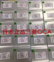 Wholesale oca optical clear adhesive - 50PCS New RoHS 250um OCA Sticker Film for iphone 4 4S 5 5S 5C 6 6 Plus 6S 6S Plus Optical Clear Adhesive Glue Sticker OCA Film Free Shipping