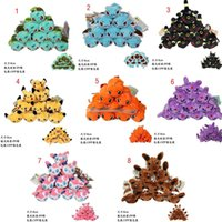 Wholesale pokemon video games online - 8 Styles New Cartoon Poke mon plush toys keychains POKE MON Stuffed Animals pendant cm inch Strap Keychain Children best gift