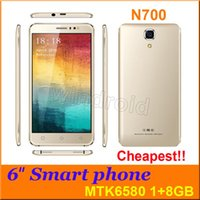 """Wholesale Cheapest 1gb Ram Android Phone - N700 6"""" Quad Core MTK6580 Android 5.1 3G smart Cell Phone 1G 8GB RAM GPS 960*540 5MP Camera Dual Sim Unlocked Phablet mobile cheapest 50pcs"""