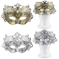 Wholesale Lingerie Mask - Wholesale-Mysterious Sexy Eye Mask Silver Gold Color Party Accessories Female Sexy lingerie Costumes Suit 2016 Hot Sale