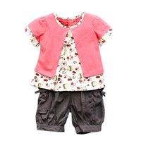 Wholesale Three Years Girls Clothes - 3 Pcs Kids Baby Girls Fruits Pattern Top+Pants+Hat Set Outfits 0-4 Years Clothes